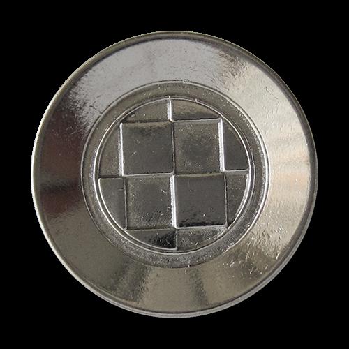 www.Knopfparadies.de - 1555si - Silberne Metallknöpfe mit Rauten Muster
