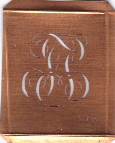 Wäsche-Schablone Sticken Monogramm Stickvorlage FP