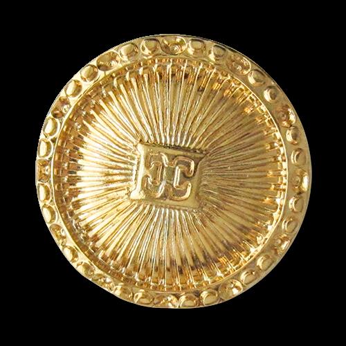 www.knopfparadies.de - 3036gg - Edle Designerknöpfe aus goldfarbenem Metall