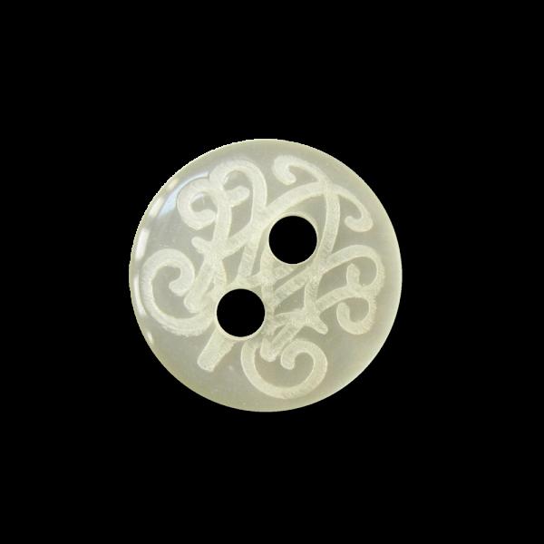 Perlmutt weißer Blusen Knopf mit attraktivem Muster