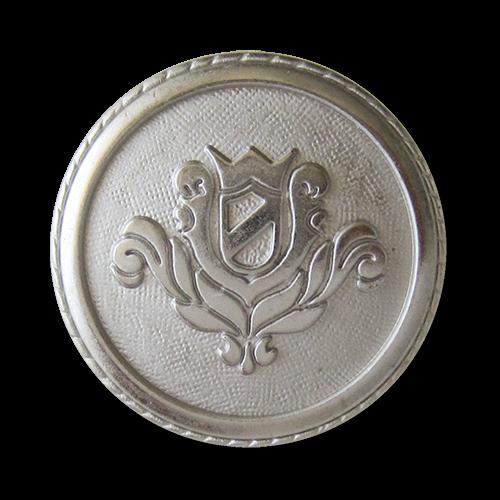 www.Knopfparadies.de - 0320si - Stilvolle Wappenknöpfe aus Metall