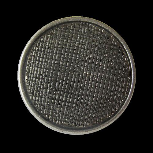 www.Knopfparadies.de - 1501si - Silberne Metallknöpfe mit Netz Struktur