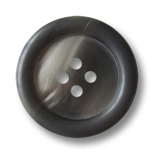 www.knopfparadies.de - 1496gr - Günstige Kunststoffknöpfe in grau schimmernd