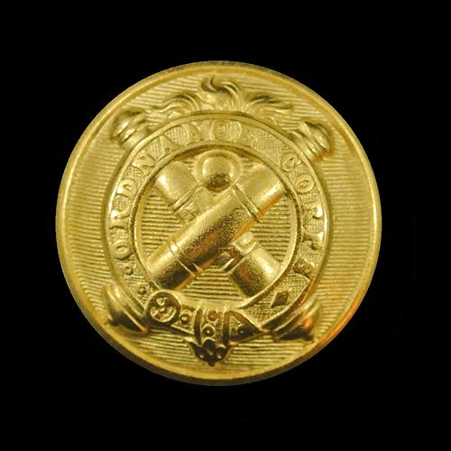 Goldfarbener historischer Uniformknopf