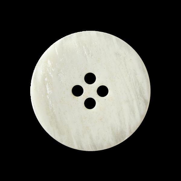 Weißer Knopf mit Perlmutt Schimmer & Glitter Partikeln