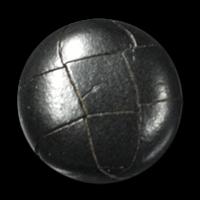 Schwarzer Lederknopf