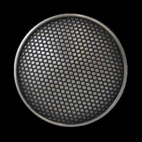 www.knopfparadies.de - 5753ei - Metallknöpfe, alteisenfarben, fein strukturiertes Muster
