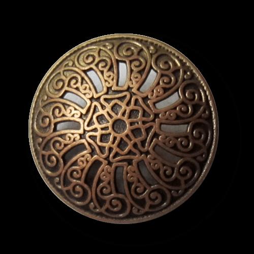 Traumhaft schöner Nostalgie-Knopf aus Metall