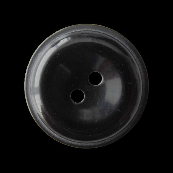 Packung 20 glänzende schwarze Universal Knöpfe