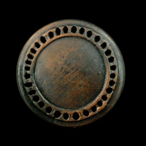 Alt wirkender Metall Knopf für Mittelalter / Larp