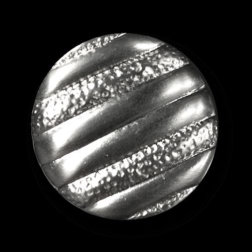 Attraktiver silberfb. Metallknopf