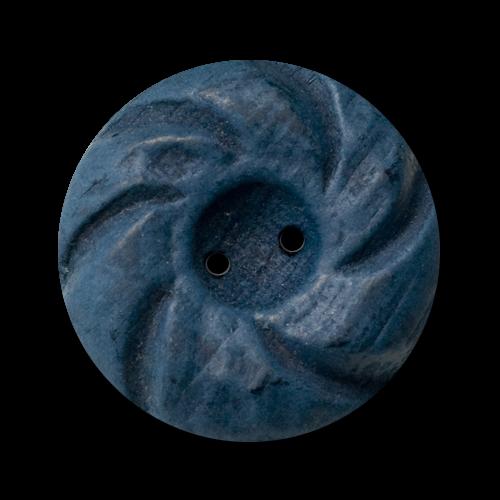 Blauer Holzknopf Landhausmode