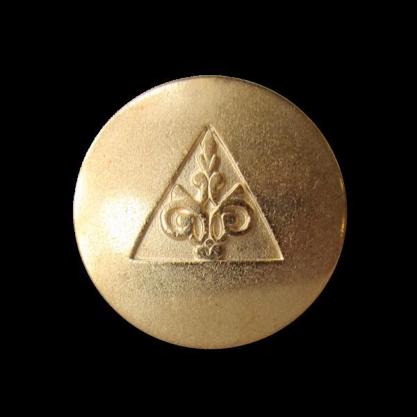 Edler Metall Ösen Knopf mit Ornament & Dreieck