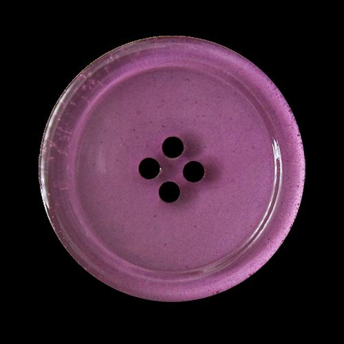www.knopfparadies.de - 5852li - Günstige Kunststoffknöpfe in lila / fliederfarben - B-WARE
