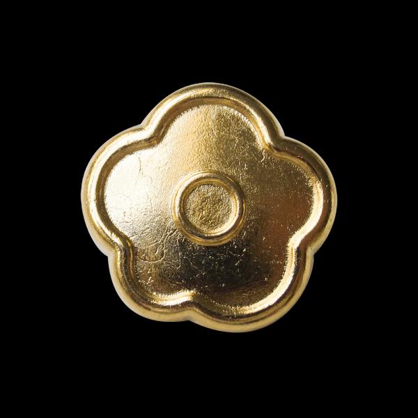 Günstiger süßer goldfarb. Blumen Metallknopf / B-WARE