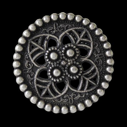 www.knopfparadies.de - 5915as - Metallknöpfe mit Durchbruchmuster, perfekt für Mittelaltergewandungen oder historische Kostüme