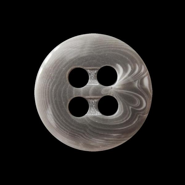 Moderner grau weiß gestrudelter Kunststoff Knopf
