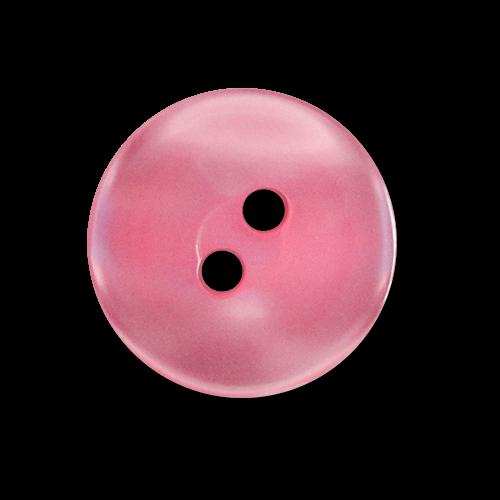 www.knopfparadies.de - 3582pi - Hübsch schimmernde Kunststoffknöpfe in pink