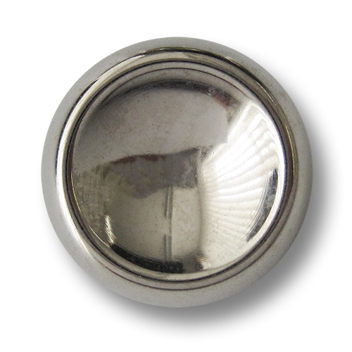 www.knopfparadies.de - 3853sg - Glänzend silberfarbene Metallknöpfe