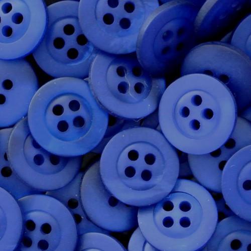 Packung mit 20 königsblauen Blusenknöpfen