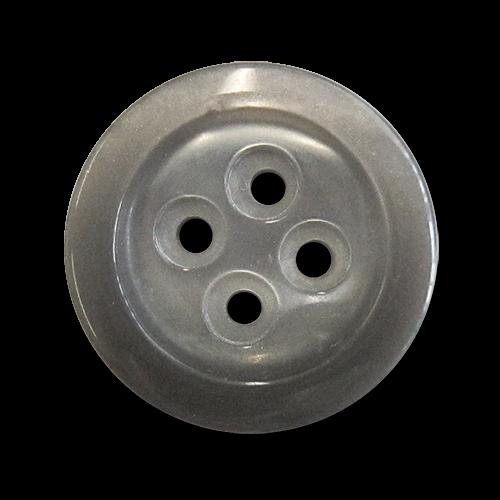 www.knopfparadies.de - 3031gr - Grau schimmernde Kunststoffknöpfe
