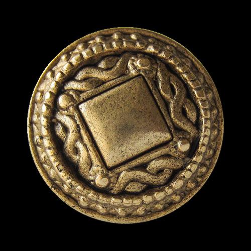 www.knopfparadies.de - 1499ag - Mondäne Metallknöpfe in Altgold
