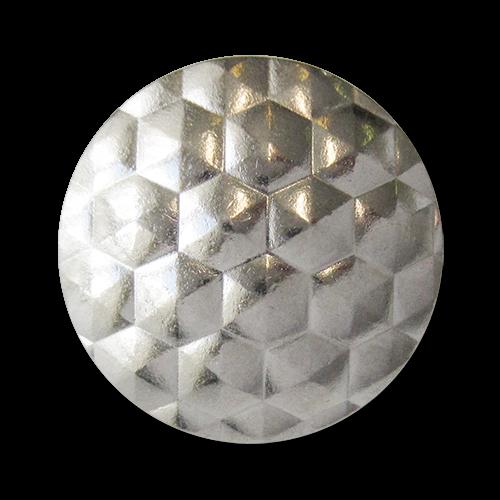 www.knopfparadies.de - 5938si - Umwerfend schöne Metallknöpfe in silber