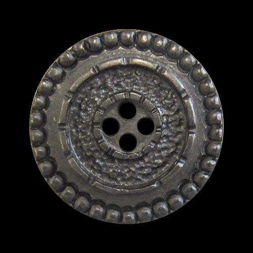 www.knopfparadies.de - 1043ei - Schwere, eisenfarbene Metallknöpfe