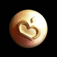Goldfarbener Metallknopf