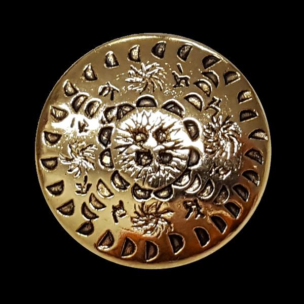 Bildschöne goldfbarbene Metallknöpfe