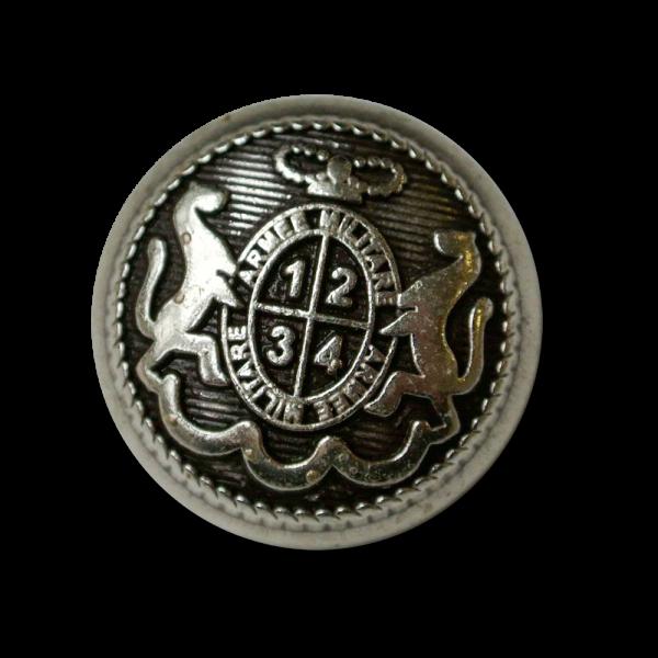 Feudaler altsilberfarbener Wappen Metall Knopf