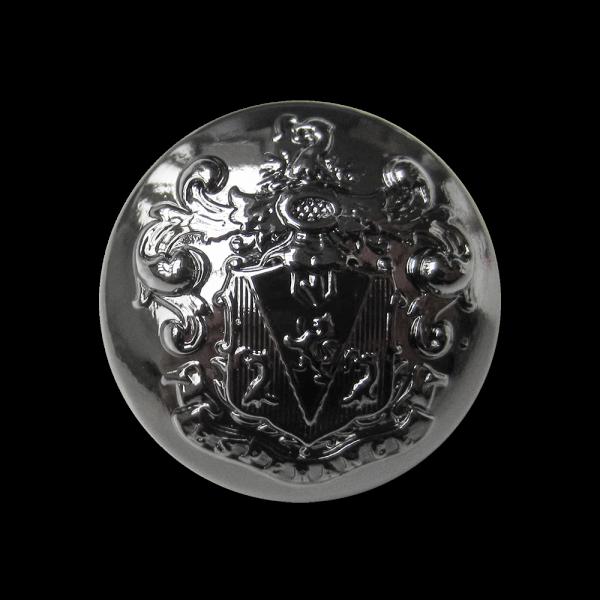 Besonders eindrucksvoller Wappenknopf aus Metall