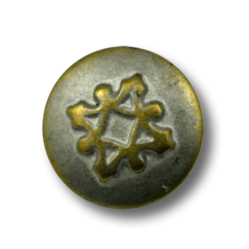 Eindrucksvoller kleiner Bicolor Metallknopf mit Symbol
