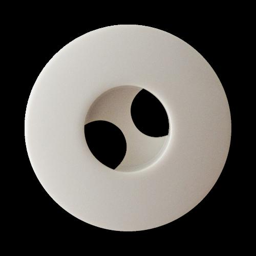 www.Knopfparadies.de - 2249we - Hübsche Mantelknöpfe mit modernen Knopflöchern