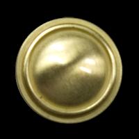 Alt wirkender messingfarbener Metall Knopf für Uniform