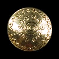 Nostalgische altgoldfarbene Metallknöpfe