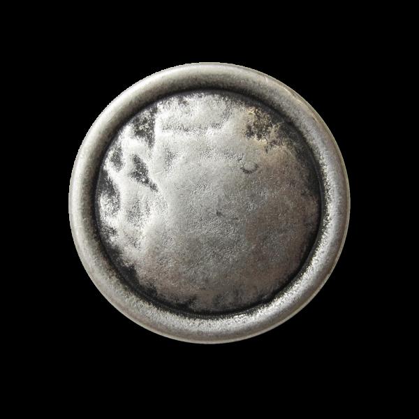Alt wirkender altsilberfarbener Ösen Metall Knopf