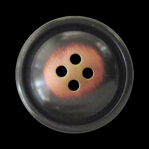 www.Knopfparadies.de - 5960ek - Leichte Metallknöpfe in eisen- und kupferfarbener Vintage-Optik