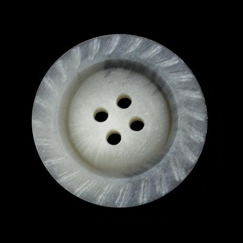 Nostalgischer großer Vierloch Knopf in Horn Optik
