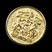 Goldfarbener attraktiver Wappenknopf