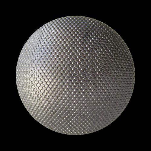 www.Knopfparadies.de - 1542ch - Stark gewölbte chromfarbene Ösenknöpfe aus leichtem Metallblech