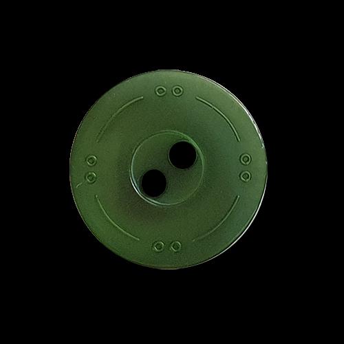 www.knopfparadies.de - 2123gr - Grüne Blusenknöpfe aus Kunststoff, mit zwei Löchern