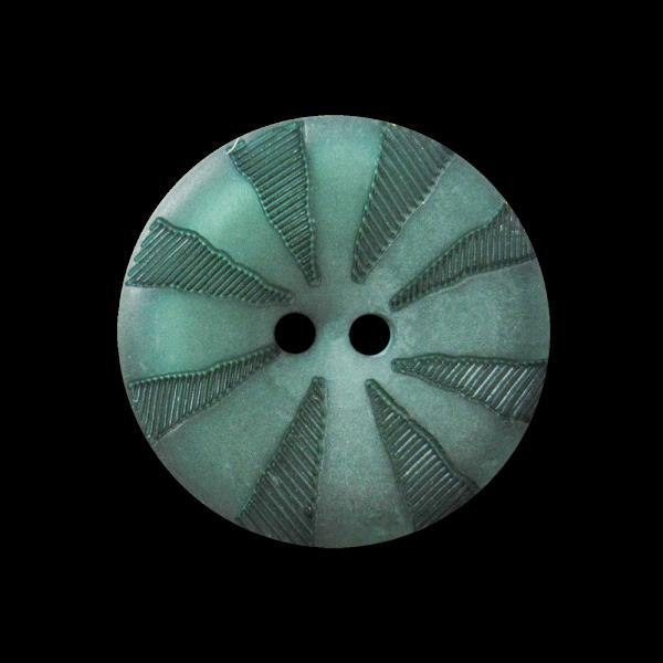 Dunkelgrün perlmuttartig schimmernder Kunststoff Knopf
