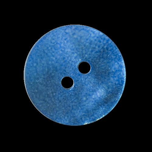 www.knopfparadies.de - 2387bl - Blau eingefärbte Perlmuttknöpfe- günstige B-Ware!