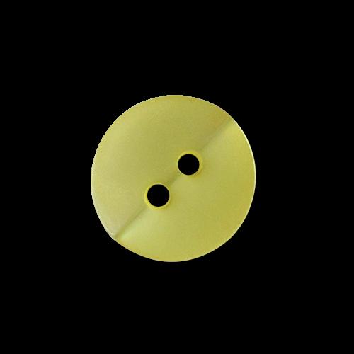 www.Knopfparadies.de - 3360ge - Gelb schimmernde Kunststoffknöpfe für Blusen