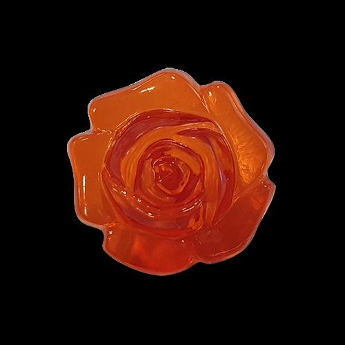 www.www.knopfparadies.de - k423gr - Rot transparente Blusenknöpfe in Rosenform