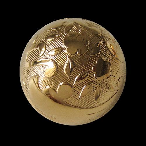 www.knopfparadies.de - 1484gg - Kunststoffknöpfe mit filigranem Muster in Halbkugelform
