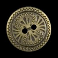 Altmessingfarbener Metallknopf