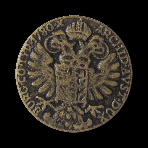 """www,knopfparadies.de - 0120me - Authentische Münzknöpfe """"Reichsadler Österreich"""""""