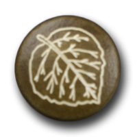 Mittelbrauner Knopf in Lederoptik